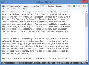 Enlarge ConEmu Screenshot