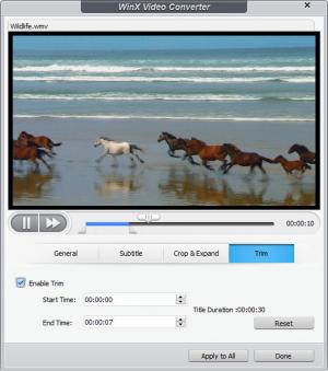 Enlarge WinX Video Converter Screenshot