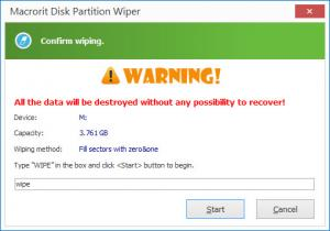 Enlarge Macrorit Disk Partition Wiper Screenshot