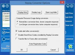 Enlarge Replay Converter Screenshot