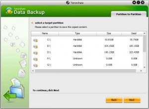 Enlarge Tenorshare Data Backup Screenshot