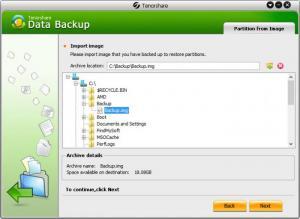 Enlarge Tenorshare Data Backup Screenshot