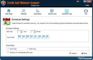 Enlarge EXEdb Anti Malware Scanner Screenshot