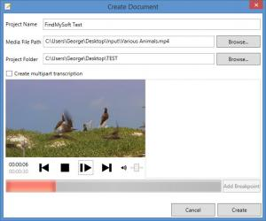 Enlarge Transcriber Screenshot