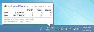 Enlarge NetSpeedMonitor Screenshot