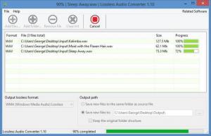 Enlarge Lossless Audio Converter Screenshot