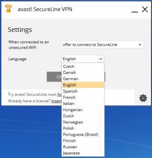 Enlarge Avast SecureLine VPN Screenshot