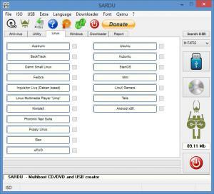 Enlarge SARDU Screenshot