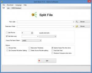 Enlarge Split Byte Screenshot