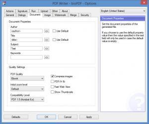 Enlarge BioPDF PDF Writer Screenshot