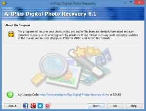 Enlarge ArtPlus Digital Photo Recovery Screenshot