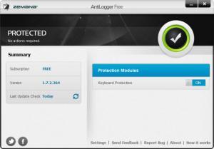 Enlarge Zemana AntiLogger Free Screenshot