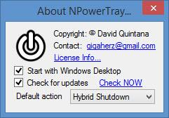 Enlarge NPowerTray Screenshot
