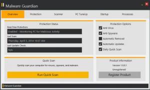 Enlarge Malware Guardian Screenshot