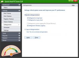 Enlarge Quick Heal PCTuner Screenshot