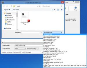 Enlarge Doxillion Document Converter Screenshot