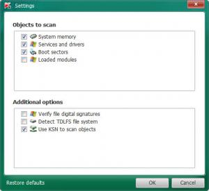 Enlarge Kaspersky TDSSKiller Screenshot