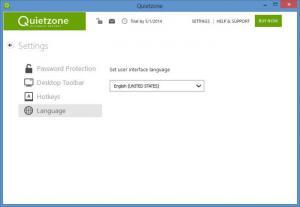 Enlarge Quietzone Screenshot