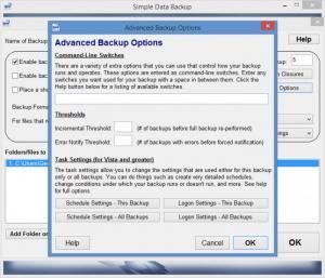 Enlarge Simple Data Backup Screenshot
