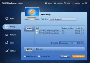 Enlarge AOMEI Backupper Screenshot