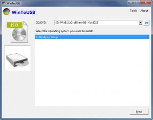 Enlarge WinToUSB Screenshot