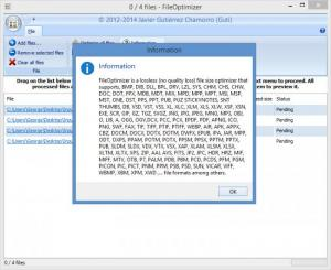 Enlarge FileOptimizer Screenshot