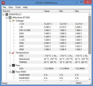 Enlarge HWMonitor Screenshot