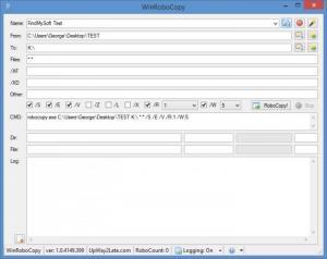 Enlarge WinRoboCopy Screenshot