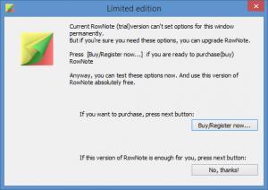 Enlarge RowNote Screenshot