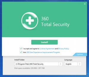 Enlarge 360 Total Security Screenshot