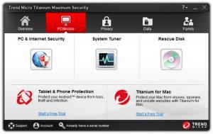Enlarge Trend Micro Titanium Maximum Security Screenshot