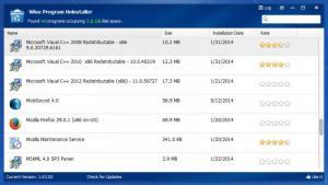 Enlarge Wise Program Uninstaller Screenshot