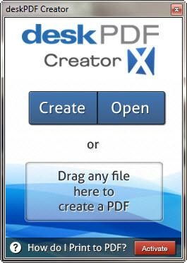 Enlarge deskPDF Creator Screenshot