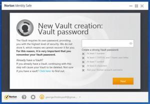 Enlarge Norton Identity Safe Screenshot
