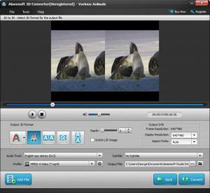 Enlarge Aiseesoft 3D Converter Screenshot