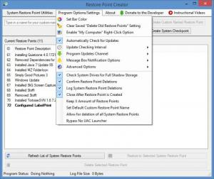 Enlarge Restore Point Creator Screenshot