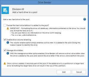 Enlarge Drive Bender Screenshot