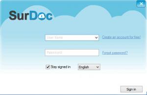 Enlarge SurDoc Desktop Screenshot