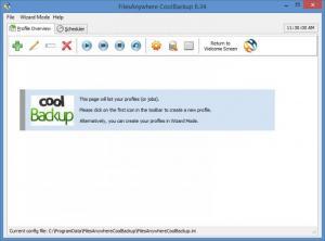 Enlarge FilesAnywhere CoolBackup Screenshot