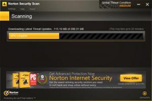 Enlarge Norton Security Scan Screenshot