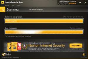 Enlarge Norton Security Scan Screenshot