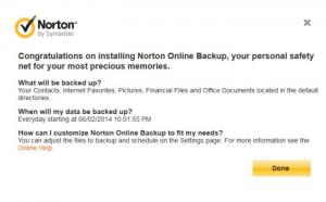 Enlarge Norton Online Backup Screenshot