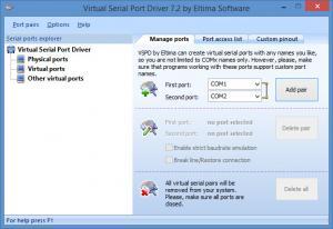 Enlarge Virtual Serial Port Driver Screenshot