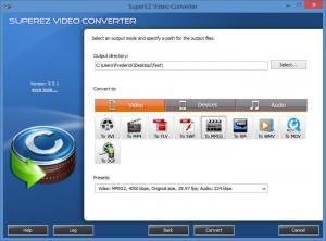 Enlarge SuperEZ Video Converter Screenshot