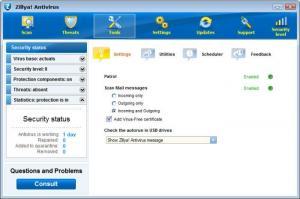 Enlarge Zillya! Antivirus Screenshot