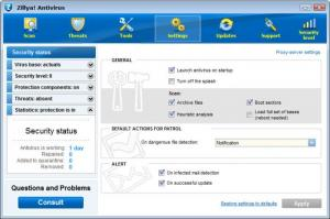 Enlarge Zillya! Antivirus Screenshot