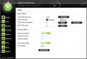Enlarge Amiti Antivirus Screenshot