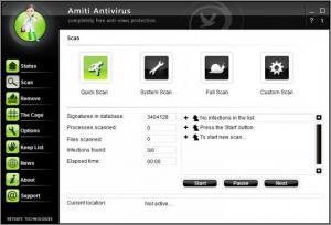 Enlarge Amiti Antivirus Screenshot