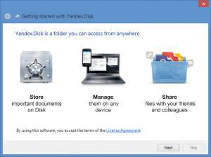 Enlarge Yandex.Disk Screenshot