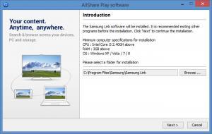 Enlarge Samsung Link Screenshot